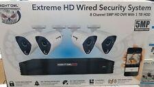 Night Owl extreme HD 8Ch 1TB DVR w/  4wired  5MP Cameras