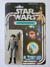 Star Wars Death Squad Commander Action Figure Gun Full Backing Card Vintage 1978