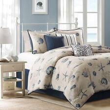 Beautiful Beach Ocean Coral Coast Sand Seashell Nautical Blue Comforter Set New