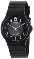 Casio Men's Black Resin Watch, Analog, Water Resistant, MQ24-1B3