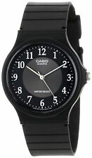Casio Men's Black Resin Watch, Analog, Water Resistant, MQ24-1B3