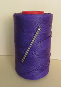 RITZA TIGRE WAXED HAND SEWING THREAD 1mm FOR LEATHER 2 NEEDLES  PURPLE JK80