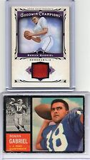 1962 TOPPS 88 RC SP AND 2013 JERSEY CARD ROMAN GABRIEL RAMS