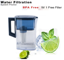 Brita Water Pitcher Quick Water Filtration to Dink with 1 Free Filter BAP Free