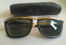 Ray Ban Vintage  B&L OLYMPIAN ll L1004 Black E/ Gold  5 1/4 Green G-15  USA. Fda