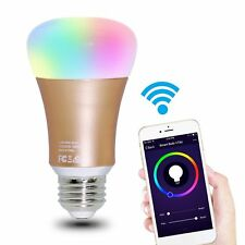 Wifi Smart LED Light Bulb Smartphone App Controlled Dimmable Multicolored Color