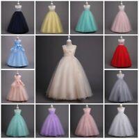 Flower Girl Princess Dress Kids Party Wedding Bridesmaid Pageant Formal Dresses