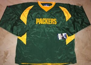 Green Bay Packers Pullover Hot Jacket 3XL Reebok On Field Authentic NFL