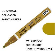 Marcador De Pintura Dorada base de aceite de plástico de vidrio de madera Pluma Impermeable medio de goma de neumáticos