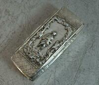 Victorian Chester Silver Elongated Table Snuff Box