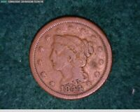 1844 Large Cent Penny Braided Hair ( 28-150 5M/o )