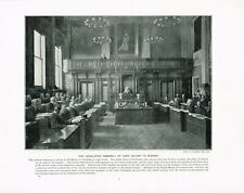 Legislative Assembly Cape Colony South Africa 1897 Antique Print Picture TQE#09