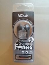 MQbix Talking Gummi In-Earbuds with Mic & Remote Earphones MQGT25BLK