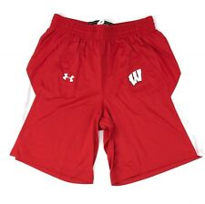 Under Armour Wisconsin Badgers Stock Fury Basketball Shorts Men's L Red UKS523M