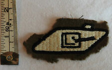 An Original Military WW2 Tank Regiment Corps Cloth Formation Badge (3298
