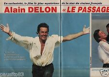 Coupure de presse Clipping 1986 Alain Delon Le Passage  (6 pages)