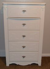 Ashley Exquisite Chest, white, five drawers, 54 x 31 x 18