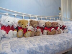 "COLLECTION OF HARRODS 13""  FOOT DATED TEDDY BEARS 1998 - 2018 - COLLECTABLE"