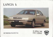 LANCIA KAPPA k Betriebsanleitung 1994 Bedienungsanleitung 838 Handbuch  BA