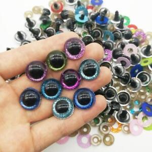10x Plastic Glittering Safety Eyes for Teddy Bears Soft Animal Toy Kid DIY Craft