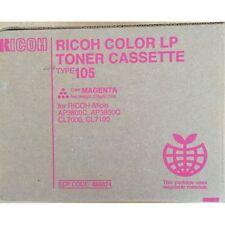 Ricoh Toner Type 105 MAGENTA Aficio AP 3800 3850 CL 7000 7100 ORIGINALE NUOVO