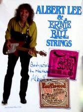Albert Lee & Ernie Ball Strings Promotional Poster.  Signed by Albert!