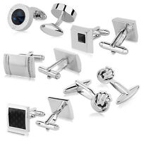 Square Grid Women's & Men's Wedding Party Shirt Gift Cufflinks Cuff Links