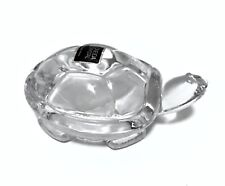 Oneida Turtle Lead Crystal Paperweight Clear Figurine 3.5 inches Long