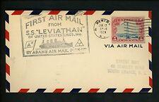 al histoire poste aérienne Souvenir Historique vols 1929 S.S.leviiathan to NJ
