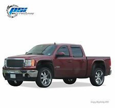 BLACK Textured Extension Fender Flares 07-13 GMC Sierra 1500 Short Bed 69.3""