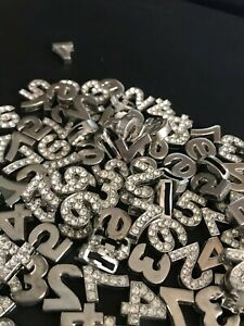 KL08 - DIAMANTE CHARMS NUMBERS CARDMAKING PAPERCRAFT JEWELLERY
