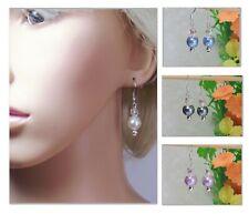Handmade Faux Pearl Drop Earrings