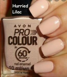 Avon Pro Colour In 60 Seconds Nail Enamel Fast drying nail polish Hurried Lilac