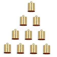 10Pcs End Cord Crimp Bead Cap Findings Light Gold for 9mm 10mm Rope
