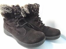 Denver Hayes Women's Brianna Low Cut Lace Up Winter Ankle Boot Brown Size 9M