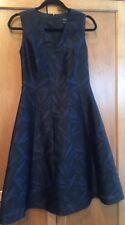 Beautiful Paul Smith Dress SZ 42 Black & Blue Floral Silk OverLay Tea Dress