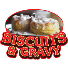 Biscuits Amp Gravy Concession Decal Sign Cart Trailer Stand Sticker Equipment