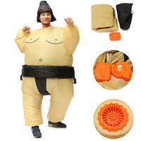 Adults Inflatable Sumo Wrestler Fancy Dress Costume Suit Hen Stag Night Outfit