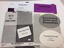 Lot of 4 Snare Drum Solos Beginner Intermediate Middle School Percussion Pieces