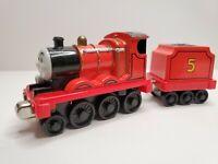 2009 Thomas & Friends Talking James W/ Tender Take n Play Magnetic Diecast Train