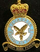 RAF Royal Air Force Enamel Badge 216 Squadron Tristar