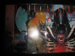 Aliens-GENOCIDE- #1 - 4  - new/never read- protective sleeve