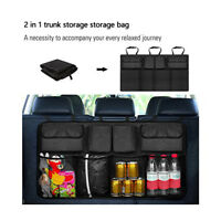 Car Van Organizer Trunk Rear Back Bench Seat Storage Bag Mesh Net Pocket Camping