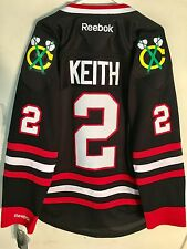Reebok Premier NHL Jersey Chicago Blackhawks Duncan Keith Black sz L