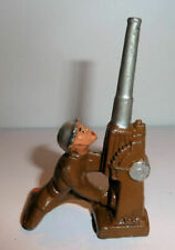 Vintage Manoil Barclay Lead Soldier With Anti-Aircraft Machine Gun