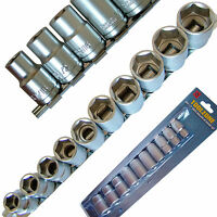 """SAE Imperial SOCKET Set in AF on Rail with 1/2"""" Drive to 6 Point Hex Sockets"""