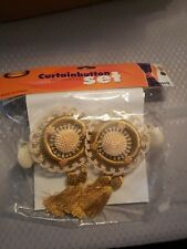 Vintage Curtainbutton Decorations Set gold new in package
