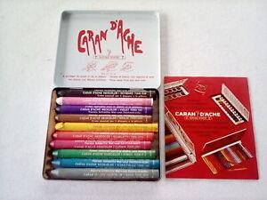 Caran d'Ache Wax Crayons - Neocolor 1 - used set of 10 in original tin