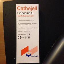 4 x Cathejell Lidocaine C 12.5G, Sterile Lubricant Gels