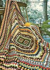 CROCHET PATTERN FOR A SIMPLE GRANNY SQUARE BLANKET / THROW - EASY TO MAKE - DK